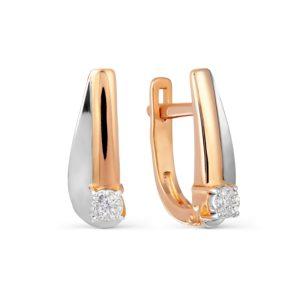 Серьги с бриллиантом - отличный подарок для женщины, у которой есть все