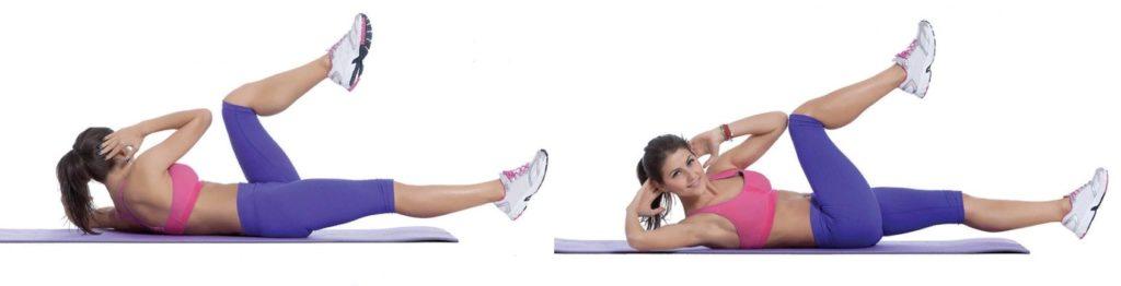 Велосипед - упражнение, развивающее верхние мышцы живота